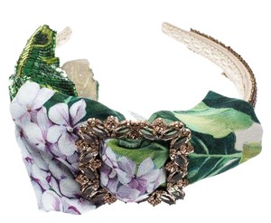 Dolce&Gabbana Multicolor Crystal and Sequin Embellished Headband