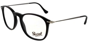 32d9274b83e4 Persol PO3124V-95-50 Men's Square Black Frame Demo Lens Genuine Eyeglasses