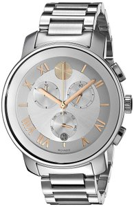 Movado Rose Gold Two Tone Stainless Chronograph 3600205