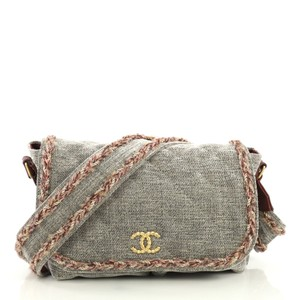 Chanel Parisian Velvet gray Messenger Bag