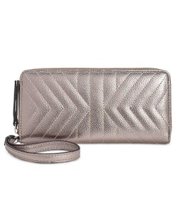 INC International Concepts INC International Concepts Glam Metallic Quilted Zip Around Wallet