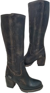 Bed|Stü washed distressed black Boots