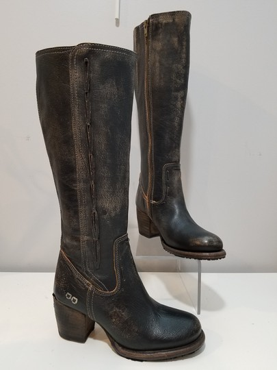 Bed|Stü washed distressed black Boots Image 4