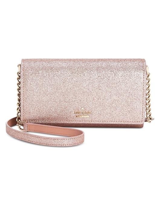 Item - New York Burgess Court Glitter Corin Rose Gold Faux Leather Cross Body Bag