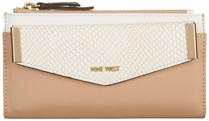 Nine West Nine West Double Zip Python Print Pouch Wallet