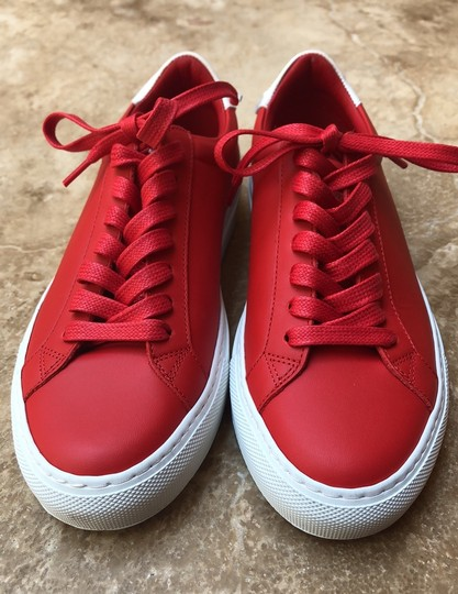 Givenchy Leather Knots Logo New Red Athletic Image 1