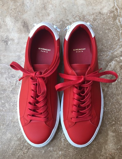 Givenchy Leather Knots Logo New Red Athletic Image 2