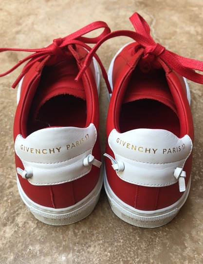 Givenchy Leather Knots Logo New Red Athletic Image 3