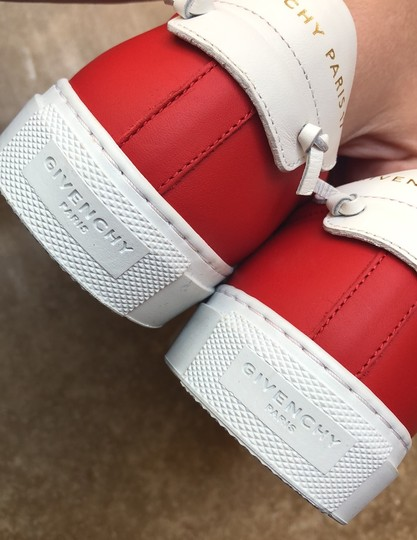 Givenchy Leather Knots Logo New Red Athletic Image 6