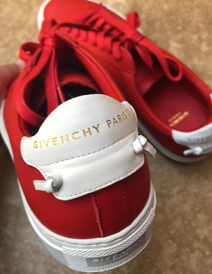 Givenchy Leather Knots Logo New Red Athletic Image 7