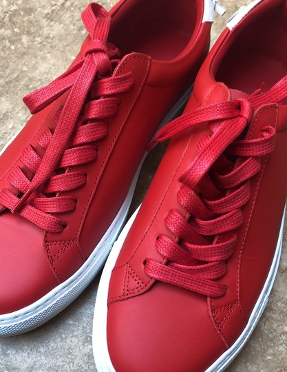 Givenchy Leather Knots Logo New Red Athletic Image 9