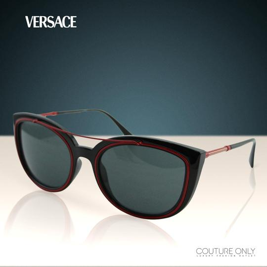 Versace New Ve4336 Women Full Rim Oval Cat Eye 56mm Sunglasses Image 2