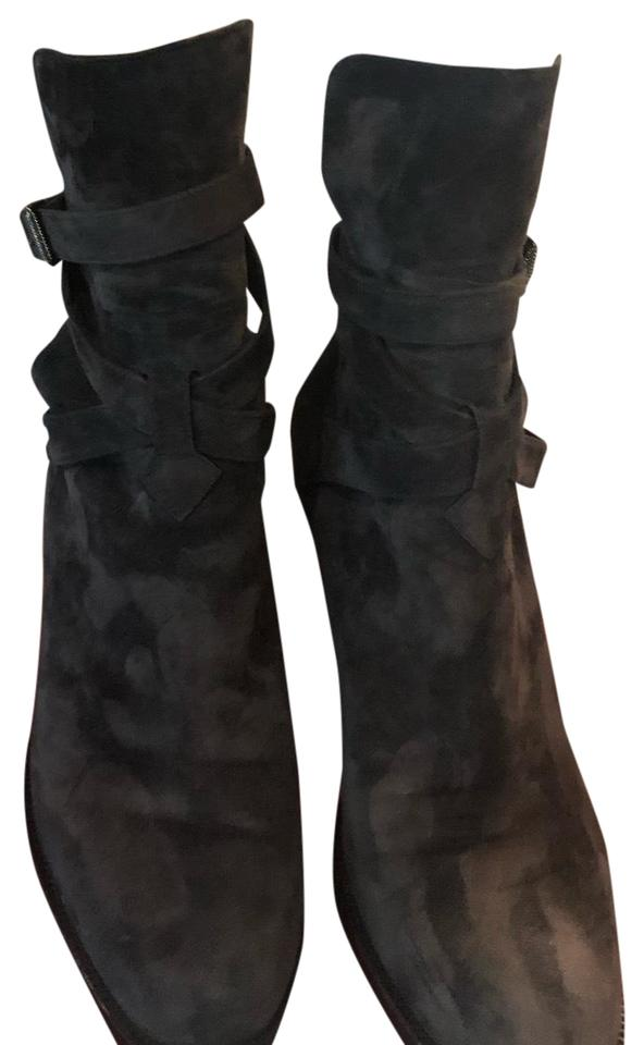 los angeles 83022 6a163 Christian Louboutin Grey Charon (Grey) Karistrap 70 Suede Buckled Strap  Ankle Heel Boots/Booties 39 (9) Boots/Booties Size US 9 Regular (M, B) 39%  off ...