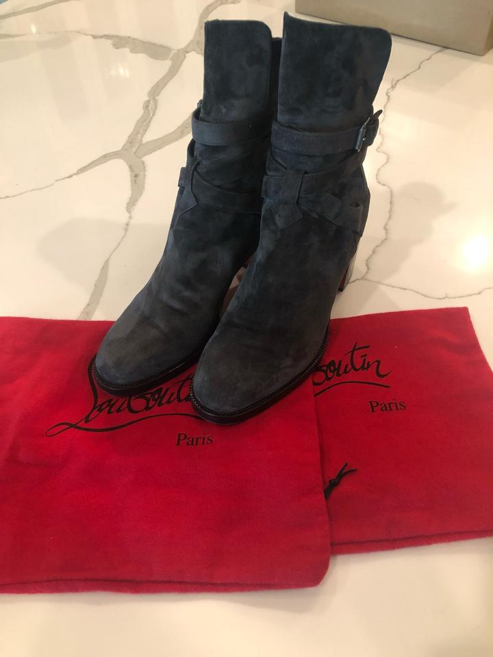 a67773e96c6 Christian Louboutin Grey Charon (Grey) Karistrap 70 Suede Buckled Strap  Ankle Heel Boots/Booties 39 (9) Boots/Booties Size US 9 Regular (M, B) 39%  off ...