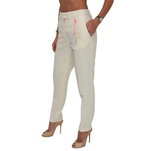 See by Chloé Anke Length Mid Rise Summer Trousers Pencil Skinny Pants Beige