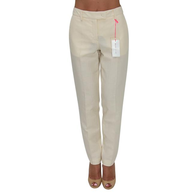 See by Chloé Anke Length Mid Rise Summer Trousers Pencil Skinny Pants Beige Image 1