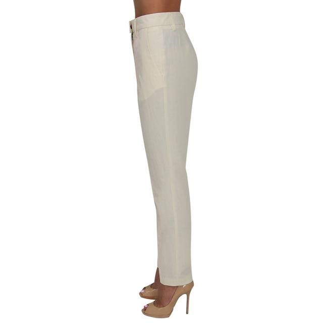 See by Chloé Anke Length Mid Rise Summer Trousers Pencil Skinny Pants Beige Image 3