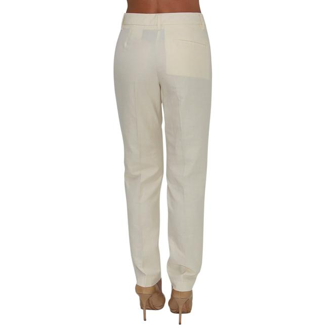 See by Chloé Anke Length Mid Rise Summer Trousers Pencil Skinny Pants Beige Image 4