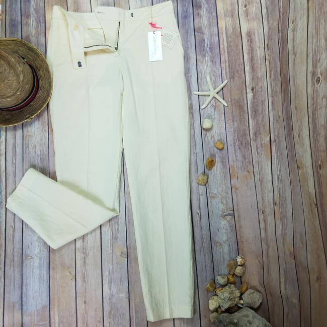 See by Chloé Anke Length Mid Rise Summer Trousers Pencil Skinny Pants Beige Image 6