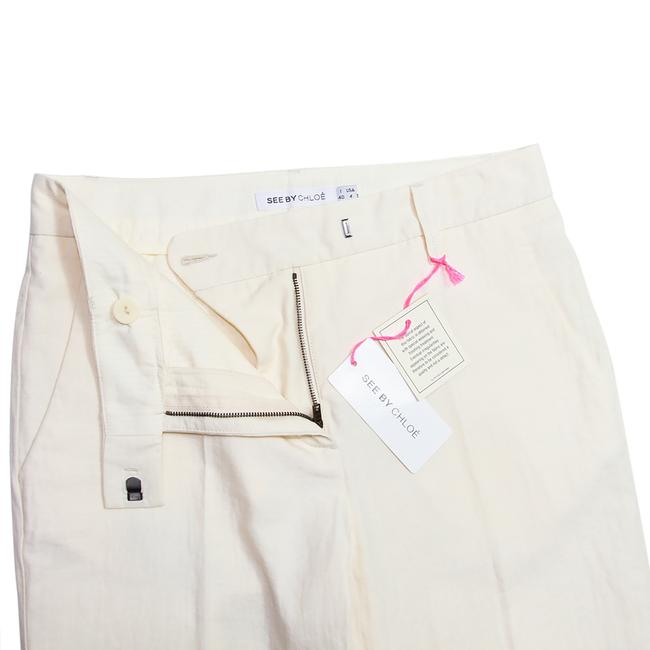 See by Chloé Anke Length Mid Rise Summer Trousers Pencil Skinny Pants Beige Image 8