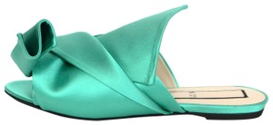 N°21 No 21 Satin Green Mules