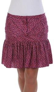 See by Chloé Made In Italy Silk Summer Mini Skirt Purple & Navy