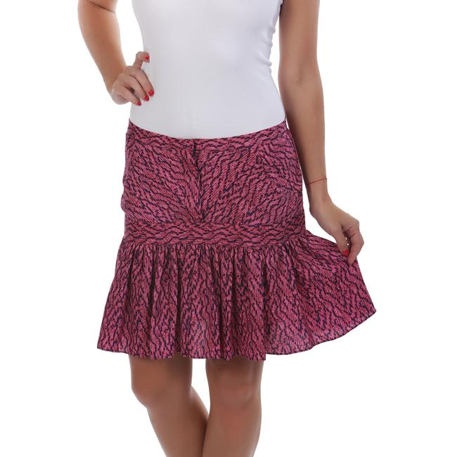 See by Chloé Made In Italy Silk Summer Mini Skirt Purple & Navy Image 1