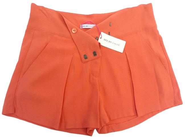 Preload https://img-static.tradesy.com/item/25694381/see-by-chloe-coral-new-women-pockets-pleated-relaxed-fit-viscose-dress-shorts-size-10-m-31-0-1-650-650.jpg