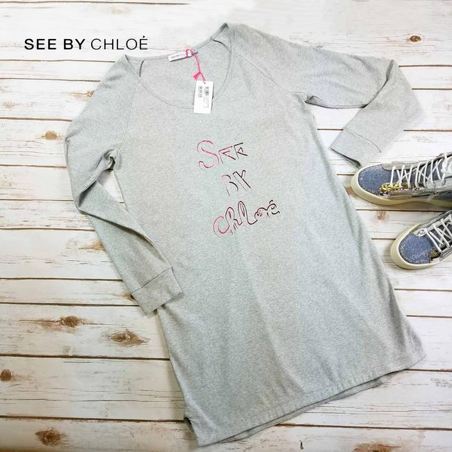 See by Chloé short dress Gray Sweatshirt Cotton Sweat Comfy on Tradesy Image 5