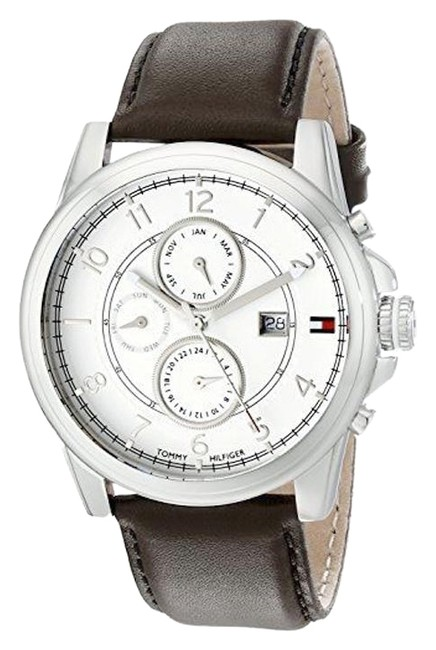 Item - White/Brown Leather Strap Men's Watch