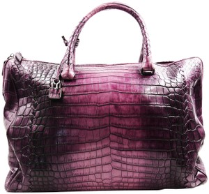 Bottega Veneta Crocodile Skin Tote in purple