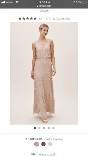 BHLDN Blush Gown Formal Bridesmaid/Mob Dress Size 2 (XS) Image 0