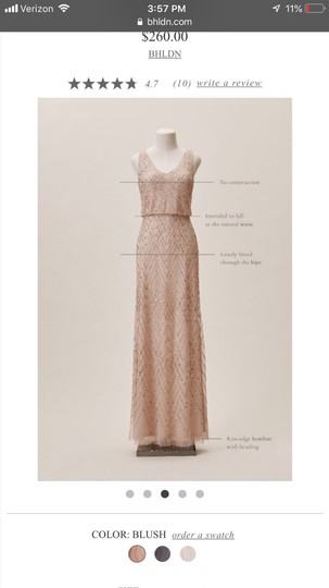 BHLDN Blush Gown Formal Bridesmaid/Mob Dress Size 2 (XS) Image 2