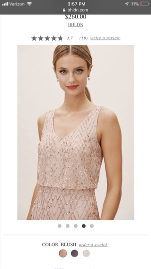 BHLDN Blush Gown Formal Bridesmaid/Mob Dress Size 2 (XS) Image 3