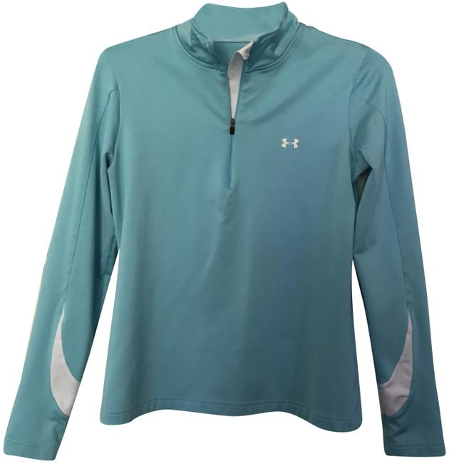 Item - Teal & White 3/4 Activewear Top Size 12 (L)