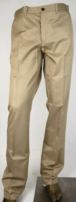 Item - Sand Brown Men's Cotton Dress Pants Eu 44/Us 28 Spe15 Xaz Groomsman Gift