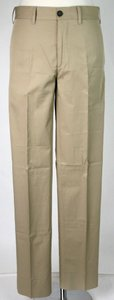 Prada Sand Brown Men's Cotton Dress Pants Eu 44/Us 28 Spe15 Ic0j Groomsman Gift