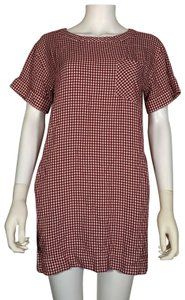 Madewell short dress Red Viscose on Tradesy
