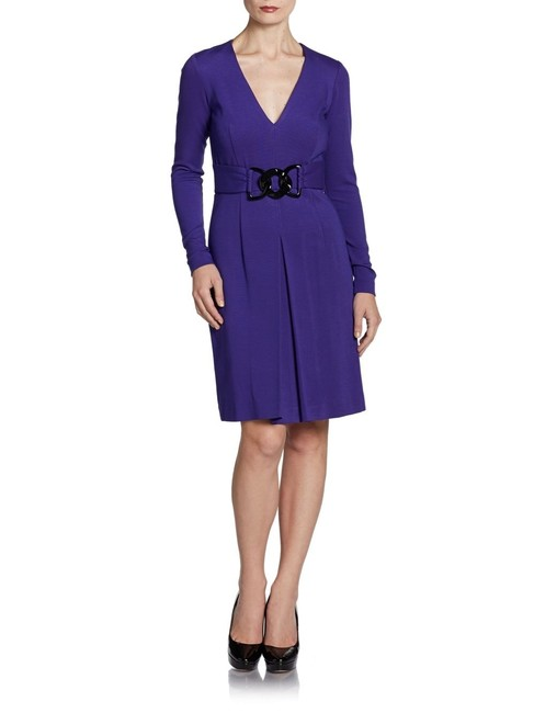 Item - Purple Eloise Ponti Link Short Cocktail Dress Size 8 (M)