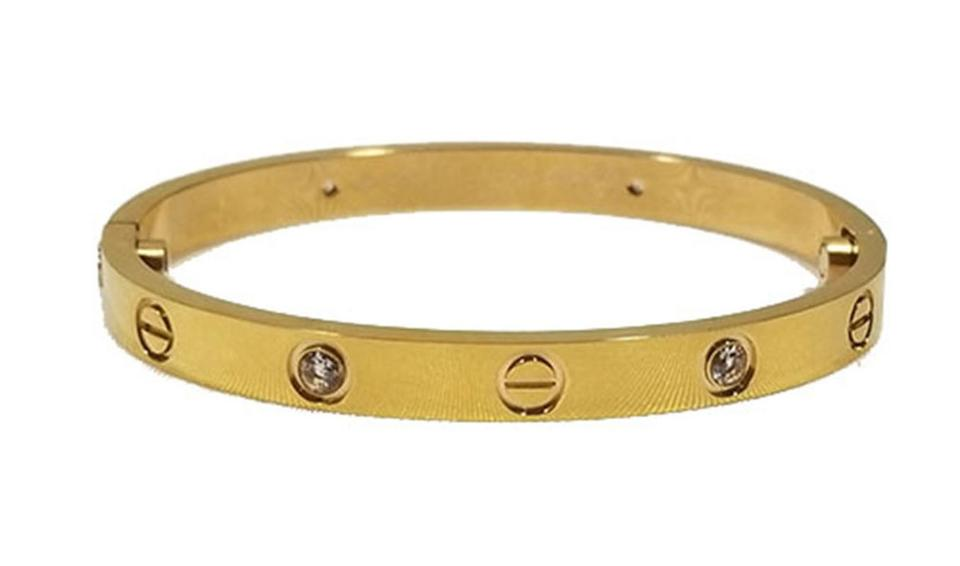 96a75b32792f9 Gold Love Bangle New 19 Cm 2.25