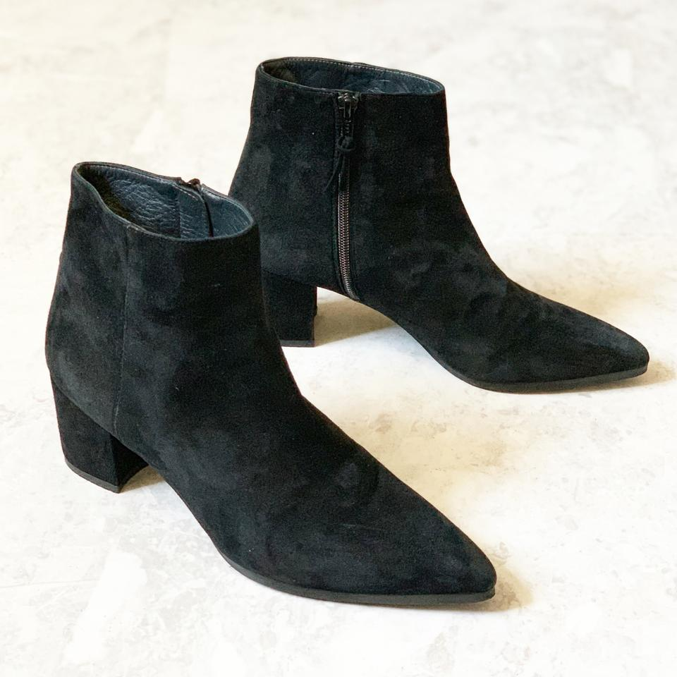 wide selection of designs popular style 100% authentic Stuart Weitzman Black Suede Trendy Ankle Boots/Booties Size US 9 Regular  (M, B) 68% off retail