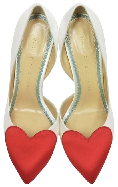 Item - White and Red Bethany Pumps Size US 7 Regular (M, B)