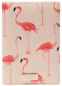 Kate Spade Kate Spade WLRU2951 Shore Street Flamingo Print Passport Holder