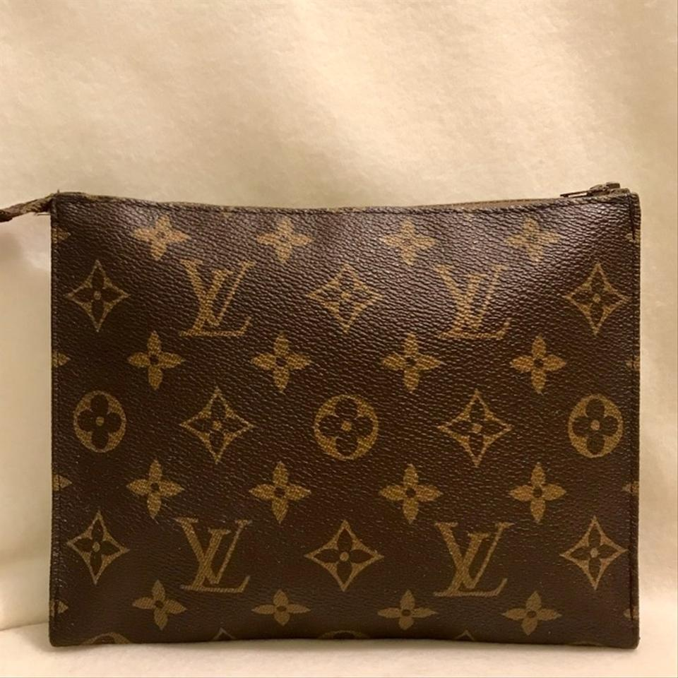 0b605834bdd Louis Vuitton Brown Clutch French Luggage Company Toiletry Cosmetic Bag