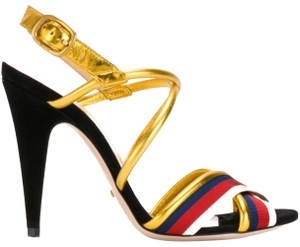 Gucci Red blue white Gold Sandals