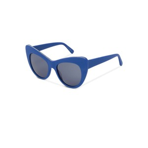 Stella McCartney Stella McCartney Matte Cobalt Blue Oversize Cat Eye Sunglasses