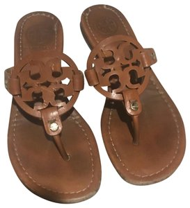 Tory Burch brown camel leather Sandals