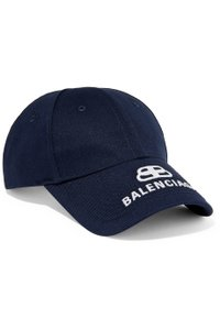 Balenciaga Balenciaga Navy Blue Embroidered White Lettering Logo Baseball Cap Hat