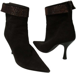 Moschino Suede Heeled Italy brown Boots
