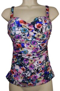 Profile by Gottex Profile by Gottex Fuji D-Cup Floral Tankini Underwire Bra Top~32D